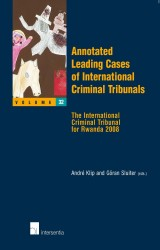 Annotated Leading Cases of International Criminal Tribunals - volume 32