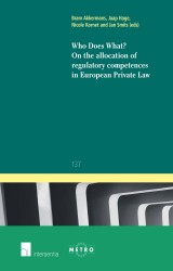 Who does What? On the Allocation of Competences in European Private Law