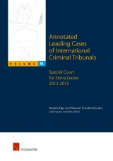 Annotated Leading Cases of International Criminal Tribunals - volume 51